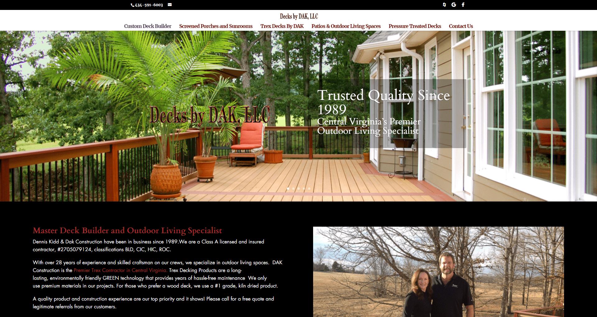 DAK Construction Website