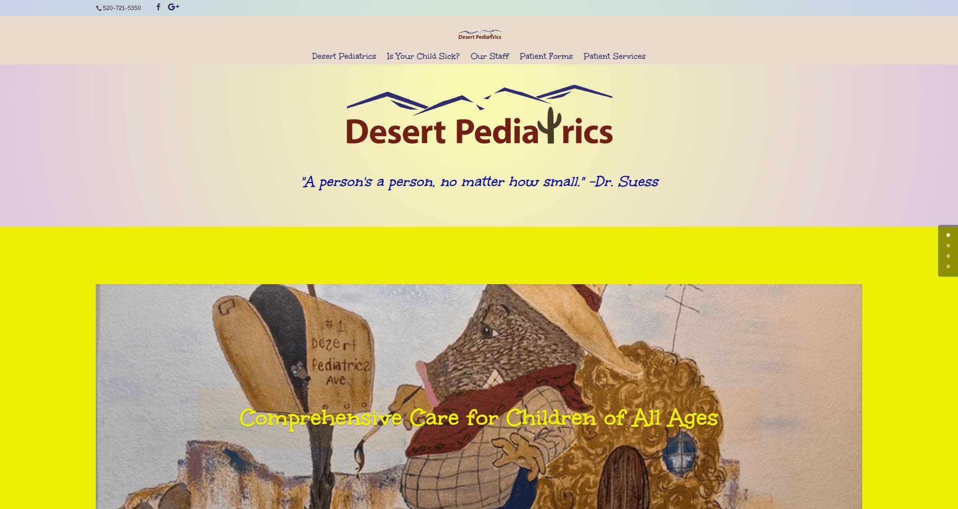 Desert Pediatrics Website